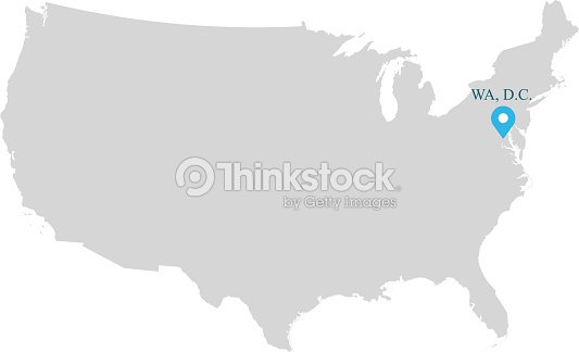 Highly Detailed Usa Map Vector Outline Illustration With Capital ...