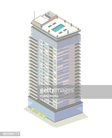 Apartment Building Illustration highrise apartment building illustration vector art | getty images