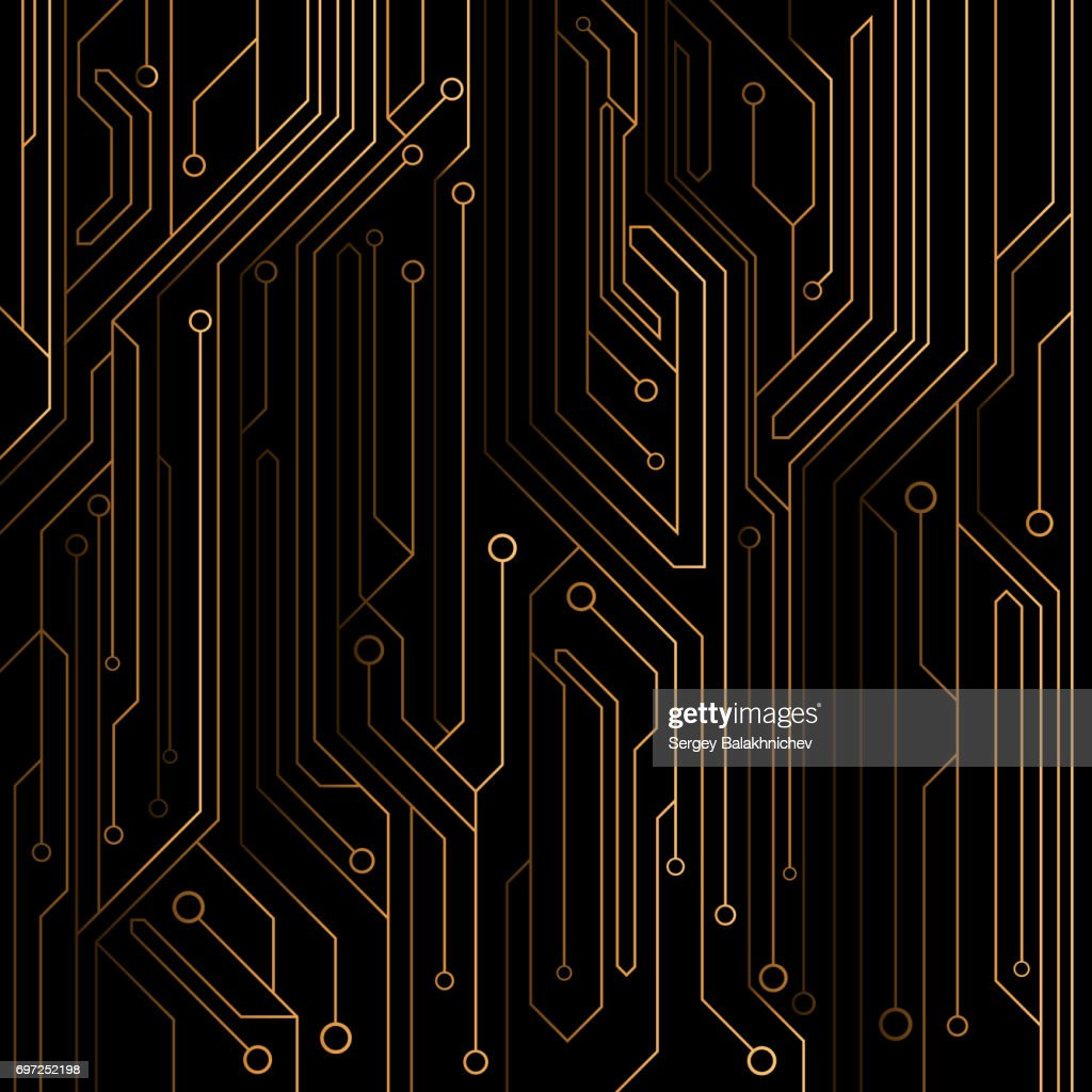 hightech background of orange color from a computer board with ledshigh tech background of orange color from a computer board with leds and neon connectors computer circuit vector illustration eps 8