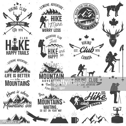 Hiking club badge : Vector Art