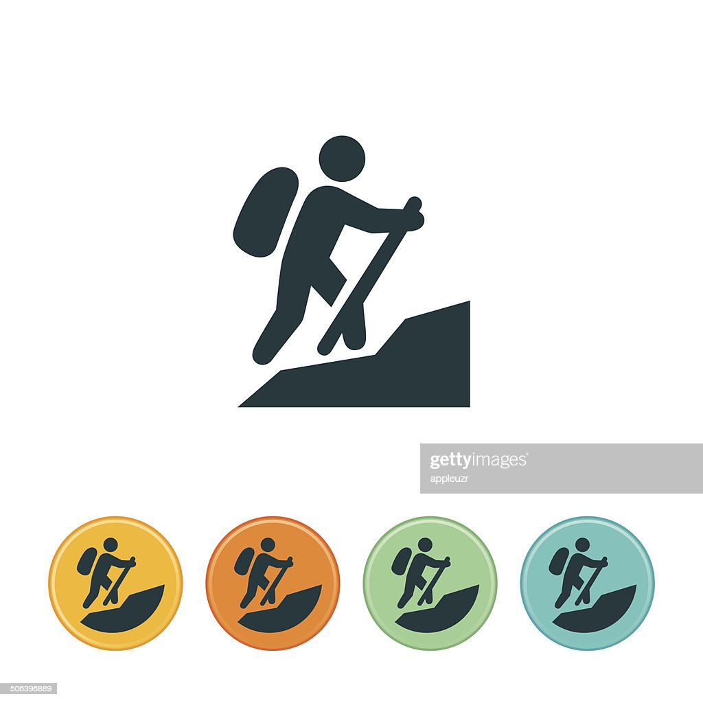 hiking icon vector art getty images