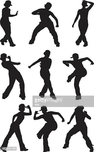 Hip hop girl dancing