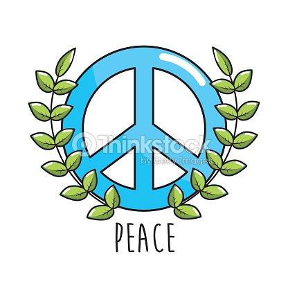 Hippie Emblem Symbol Of Peace And Love Vector Art Thinkstock