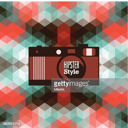 Hipster background. : Vector Art
