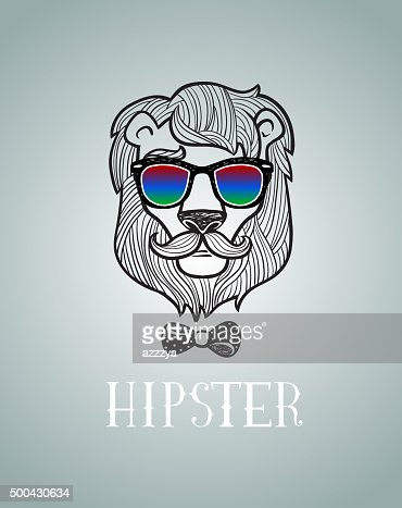 Lion hipster - photo#50