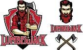 vector of hipster look lumberjack