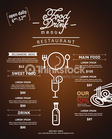 Hipster Restaurant Menu Design Website Template And Brochure ...