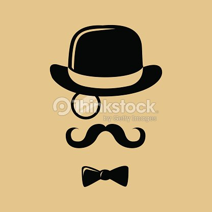Hipster with mustache top hat and bow tie silhouette vector art hipster with mustache top hat and bow tie silhouette vector art voltagebd Choice Image