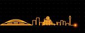 Hiroshima Light Streak Skyline