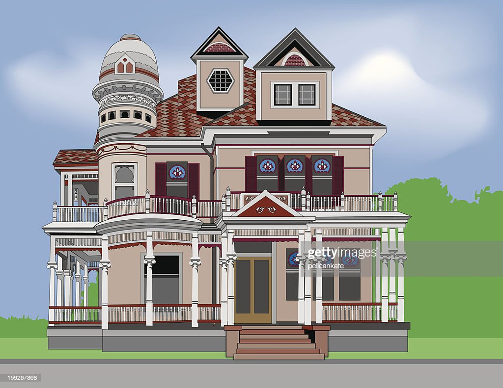 Historic Home #2 : Vector Art