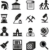 History & archaeology icons