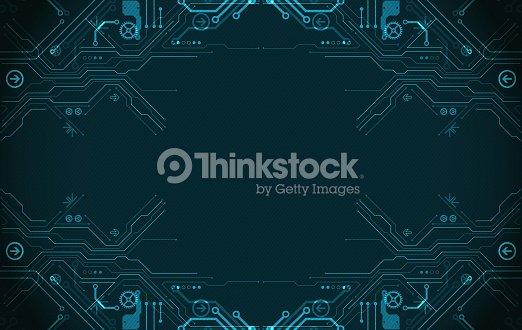 Hi-tech digital technology and engineering theme : stock vector