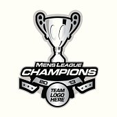 Championship patch or logo for athletic team.
