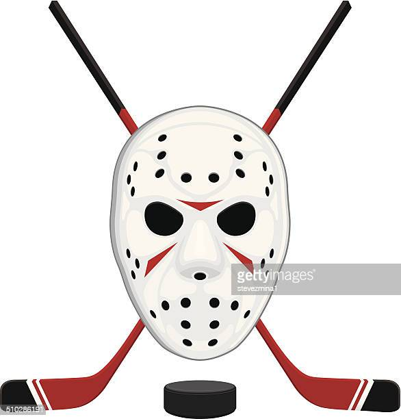 Hockey Mask, Puck and Sticks