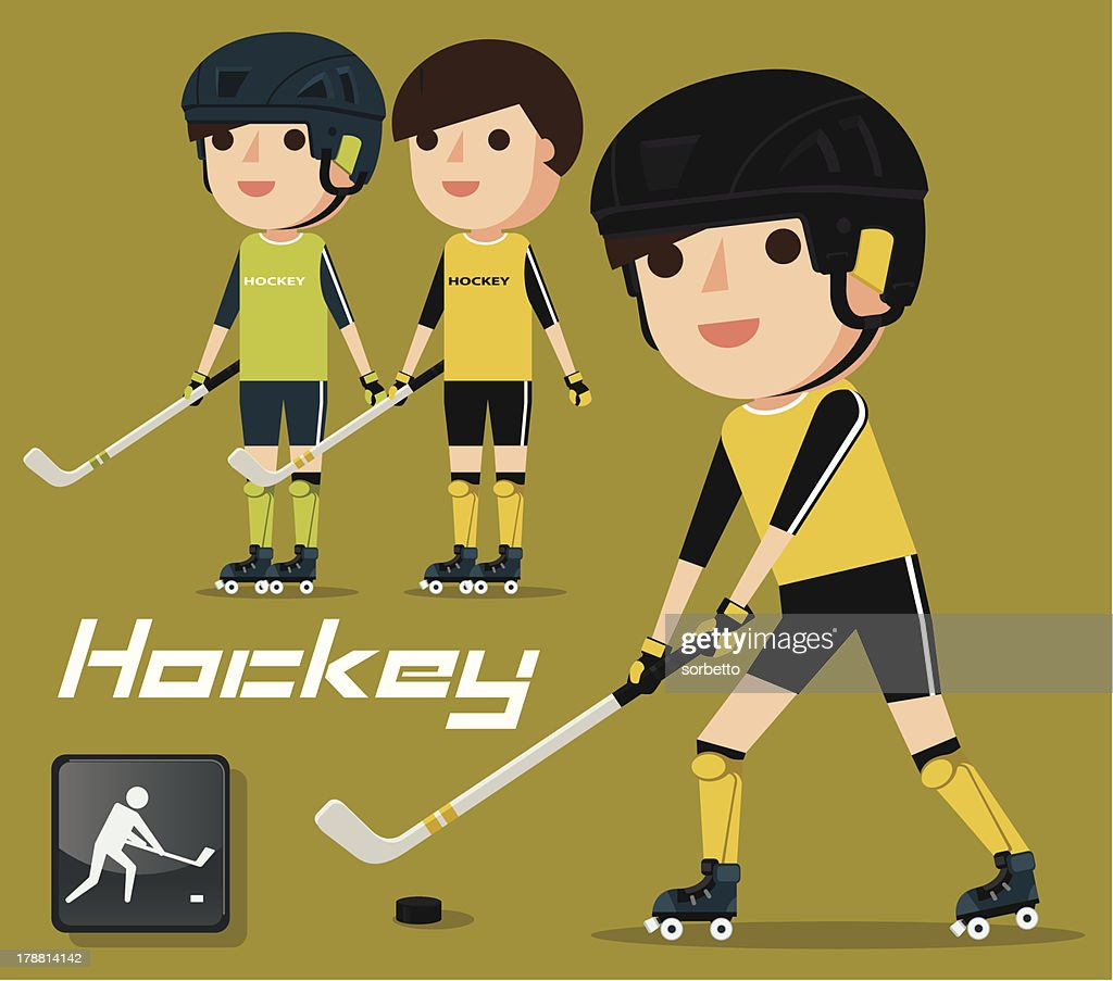 Hockey Player : Vector Art