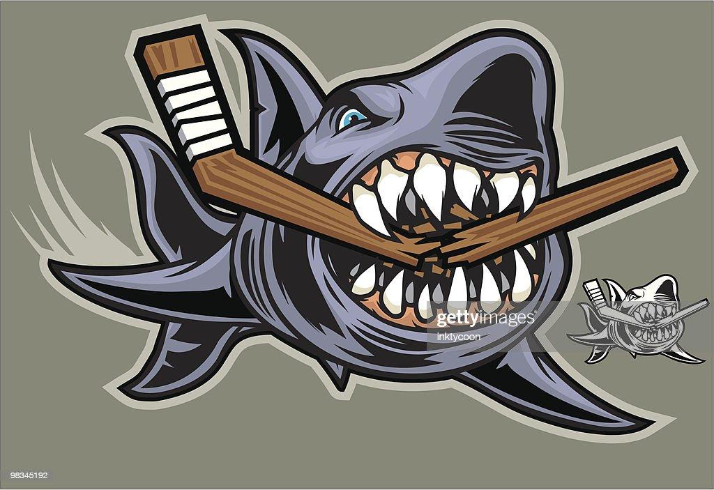 Hockey Shark : Vector Art