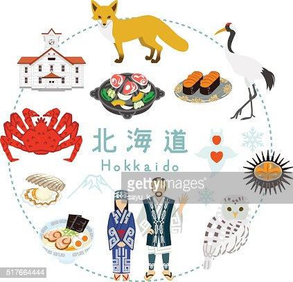 Hokkaido Tourism - Flat icons : stock vector