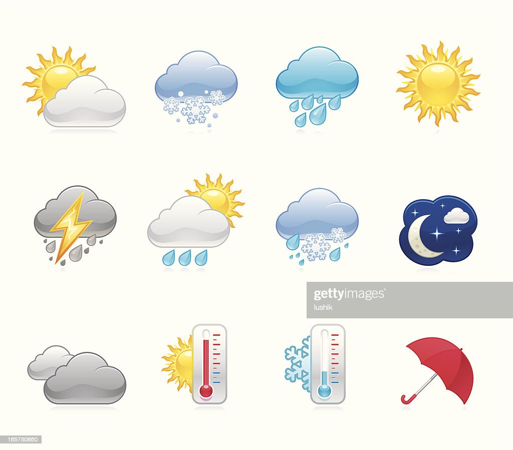 hola icons weather vector art getty images