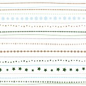 Holiday background, seamless retro striped New Year's Christmas pattern. Vecor illustration for prints, textile, cards, scrapbooking