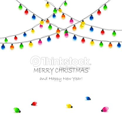 holiday background with christmas lights vector art