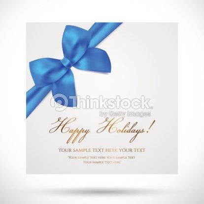 Holiday christmas birthday gift greeting card template with blue bow holiday christmas birthday gift greeting card template with blue bow m4hsunfo