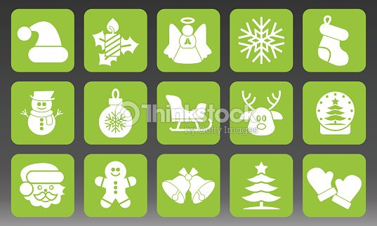 Holiday Christmas Icons Set Vector Illustration