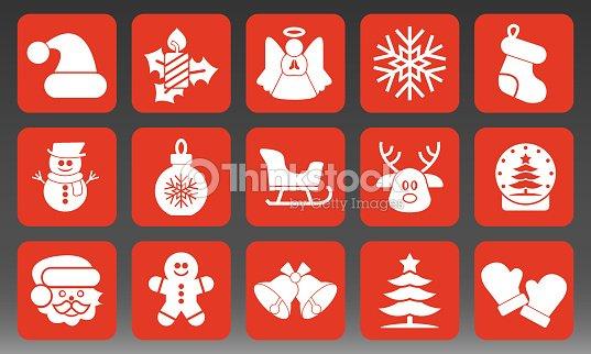 Holiday Christmas Icons Set Vector Illustration