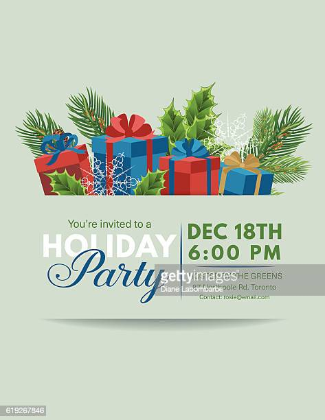 Holiday Gifts Party Invitation template