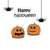 Holiday Halloween. pumpkin, cartoon on a white background
