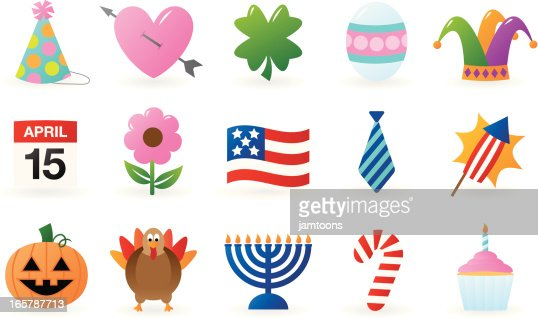 Holiday Icons Vector Art | Getty Images