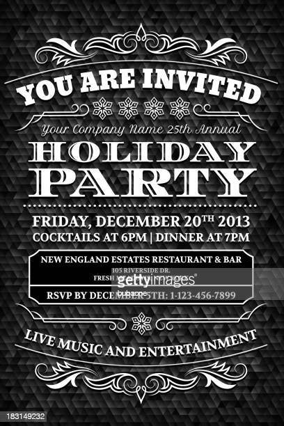 holiday invitation card royalty free vector design