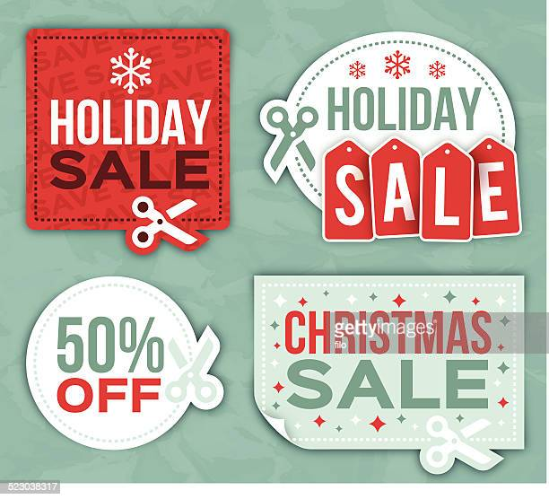 Holiday Sale Coupon Symbols