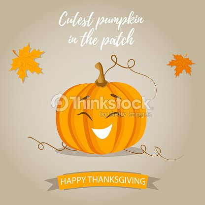 Holiday Thanksgiving background with pumpkin and text
