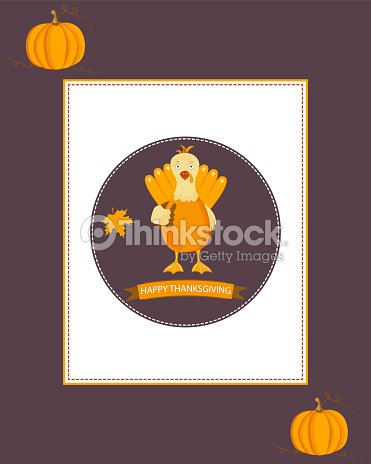 Holiday Thanksgiving background with turkey and text