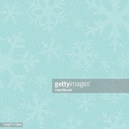 Holiday winter background with falling snow and snowflake silhouettes. Vintage colors. New Year or Christmas backdrop. Vector Illustration. : Vector Art
