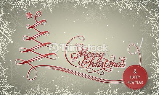 Frohe Weihnachten Rahmen.Urlaub Winter Vektor Banner Mit Schneeflocke Rahmen Frohe