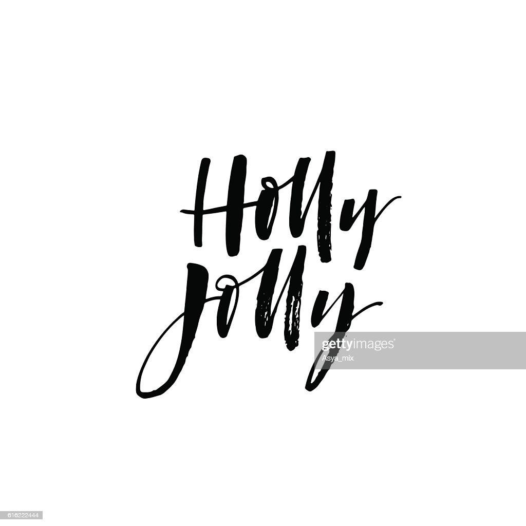 Holly jolly card. : Vector Art