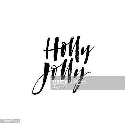 Holly jolly card. : Vector Art