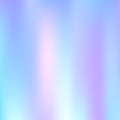 Holographic abstract background. Rainbow holographic backdrop with gradient mesh. 90s, 80s retro style. Iridescent graphic template for brochure, flyer, poster design, wallpaper, mobile screen.