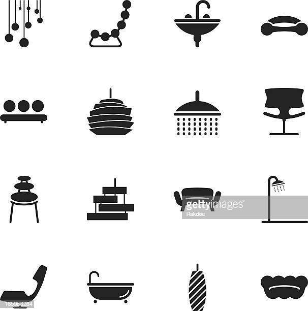 Home and Decor Silhouette Icons