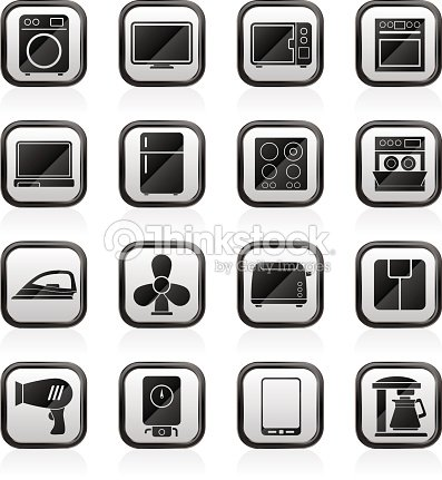 appareil lectrom nager ic nes maison clipart vectoriel thinkstock. Black Bedroom Furniture Sets. Home Design Ideas