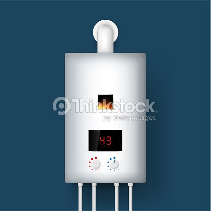 Home Gas Boiler Water Heater 3d Rendering Isolated On Background ...