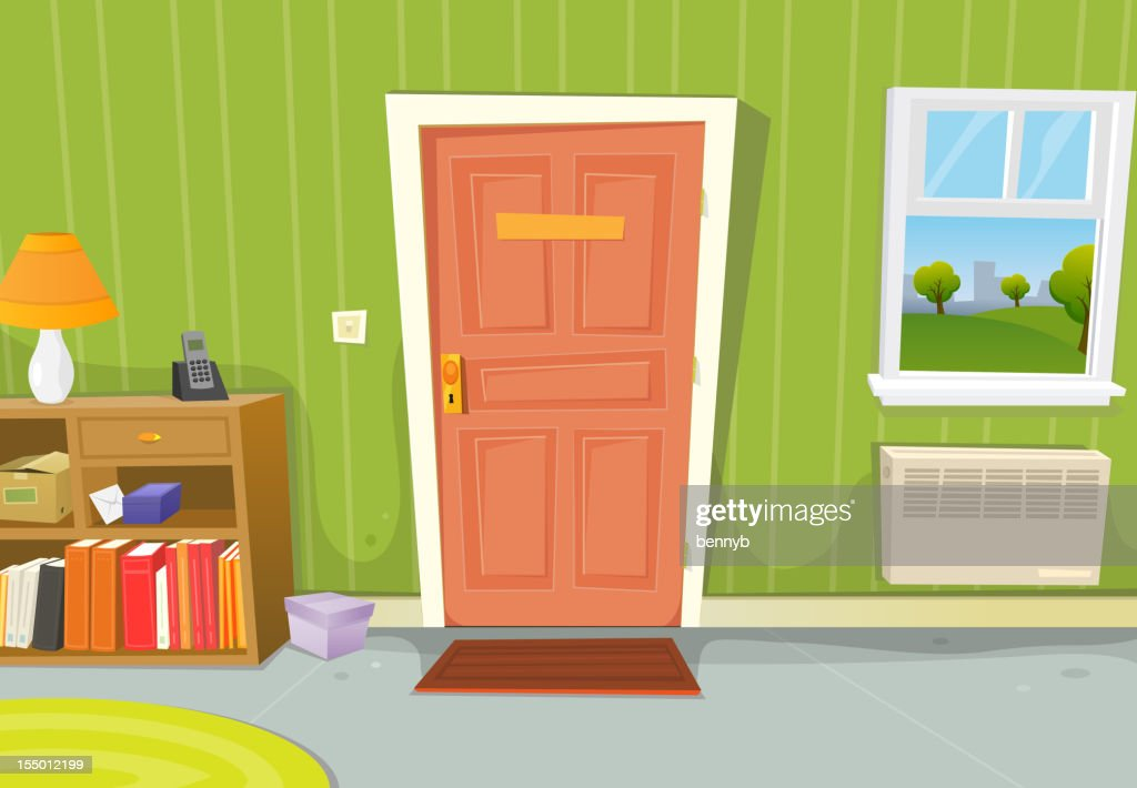 Home Interior Living Room : Vector Art