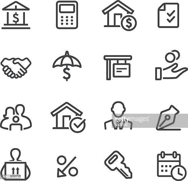Casa Mortgage iconos de línea serie