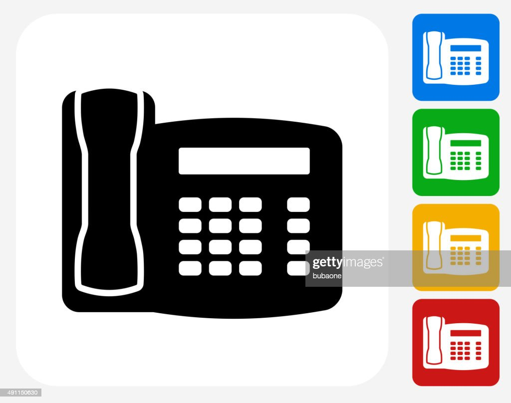 Cellphone Icon Flat Graphic Design Vector Art | Getty Images