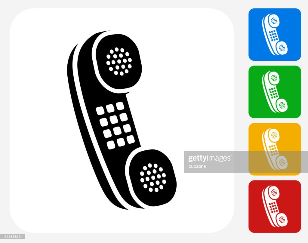 Home Phone Icon Flat Graphic Design Vector Art | Getty Images