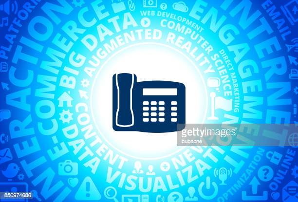 Home Phone Icon on Internet Modern Technology Words Background