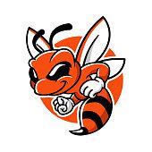 Honey Bee Mascot Vector Cartoon Character Design
