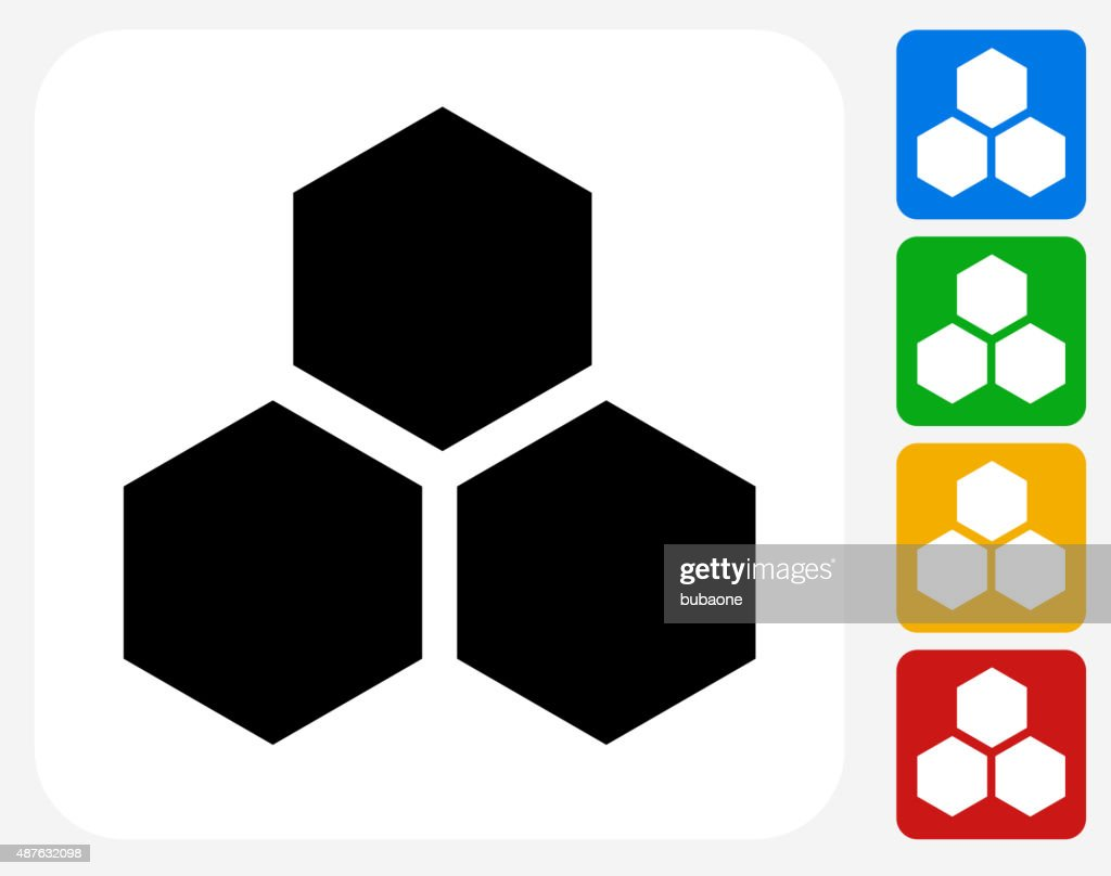 Honeycomb Icon Flat Graphic Design Vector Art | Getty Images