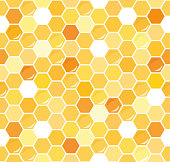 Honeycomb seamless pattern background. Vector illustration EPS10.